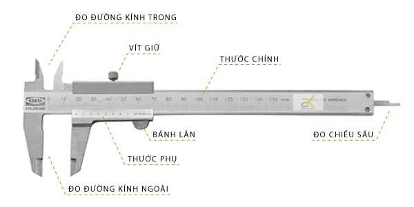 Cách sử dụng thước kẹp cơ