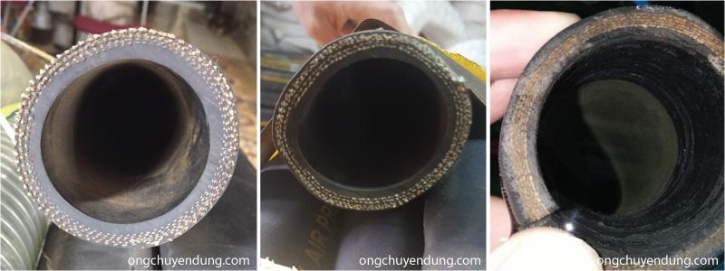 Mẫu ống cao su bố vải 5 lớp chịu nhiệt độ và áp lực cao