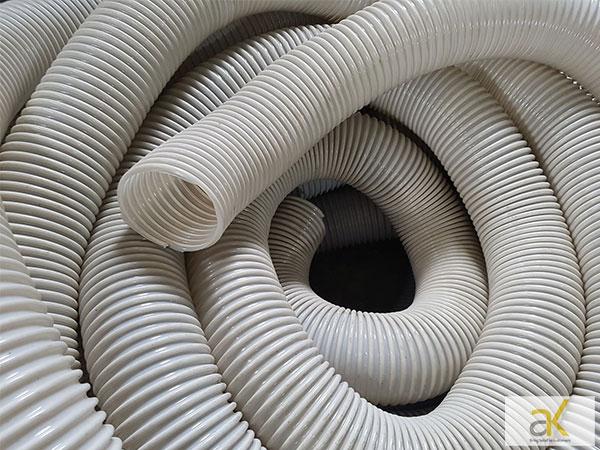 Ống hút bụi gân nhựa có trọng lượng nhẹ, uốn cong dễ dàng