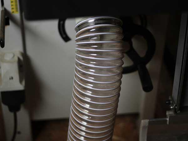 Ống hút bụi lõi thép sử dụng trong xưởng làm mộc