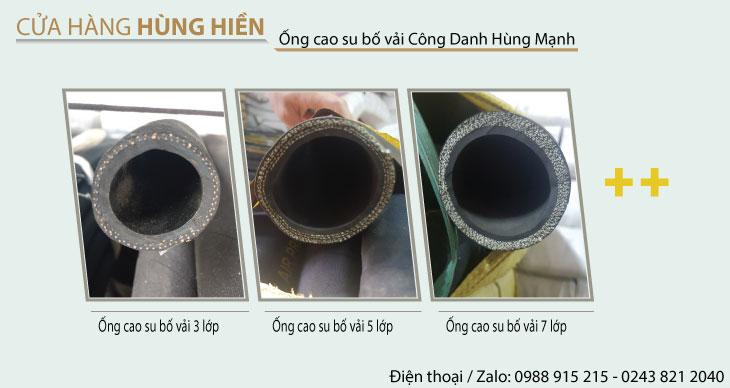 Cửa hàng hùng hiền bán các loại ống cao su bố vải công danh hùng mạnh