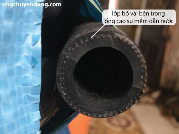 Đầu ống cao su mềm dẫn nước Công Danh Hùng Mạnh